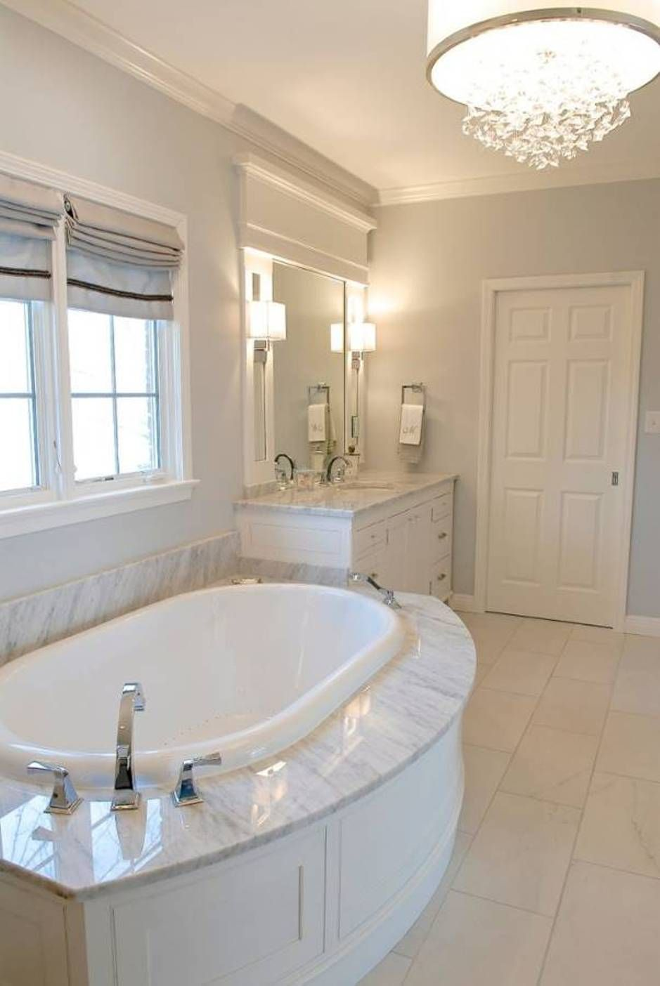 Bathroom With Whirlpool Tubs And Pale Wall Colors Bathroom Whirlpool ...