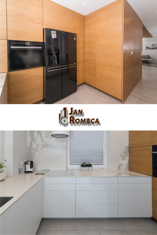 Kuchnia Bialy Akryl Z Fornirem Debowym Kitchen Kitchen Cabinets Decor