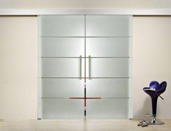 Quelques Idées De Portes Coulissantes En Verre Pour Votre Futur - Porte placard coulissante de plus porte d intérieur vitrée