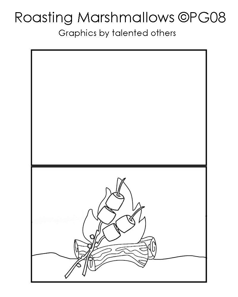 Marshmallow card template I made | Card templates, Card ...