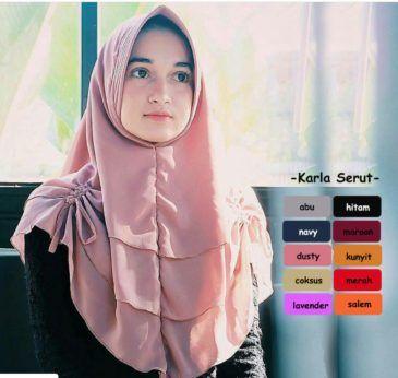 Jilbab Hijab Bergo Kerudung Instan Karla Serut Kerudung Model Pakaian Anak Anak Gaya Hijab