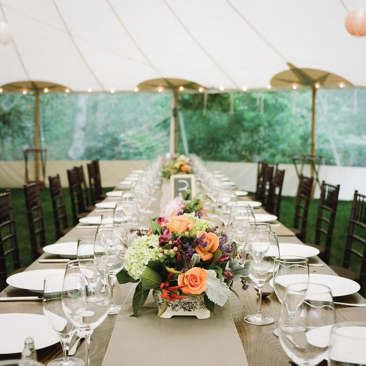 Audrey Tomason & Sean Ward • Table settings for rehearsal dinner and ...