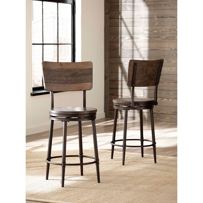 Hilale Furniture Jennings Swivel Counter Stool