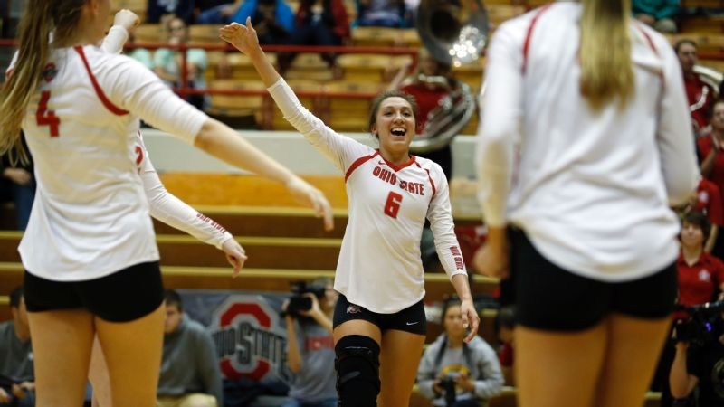 Ncaa Volleyball Hand It To Ohio State S Hughes Volleyball Quotes Ohio State Volleyball