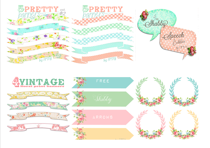 Free Vintage Digital Rose Arrows And Wreaths