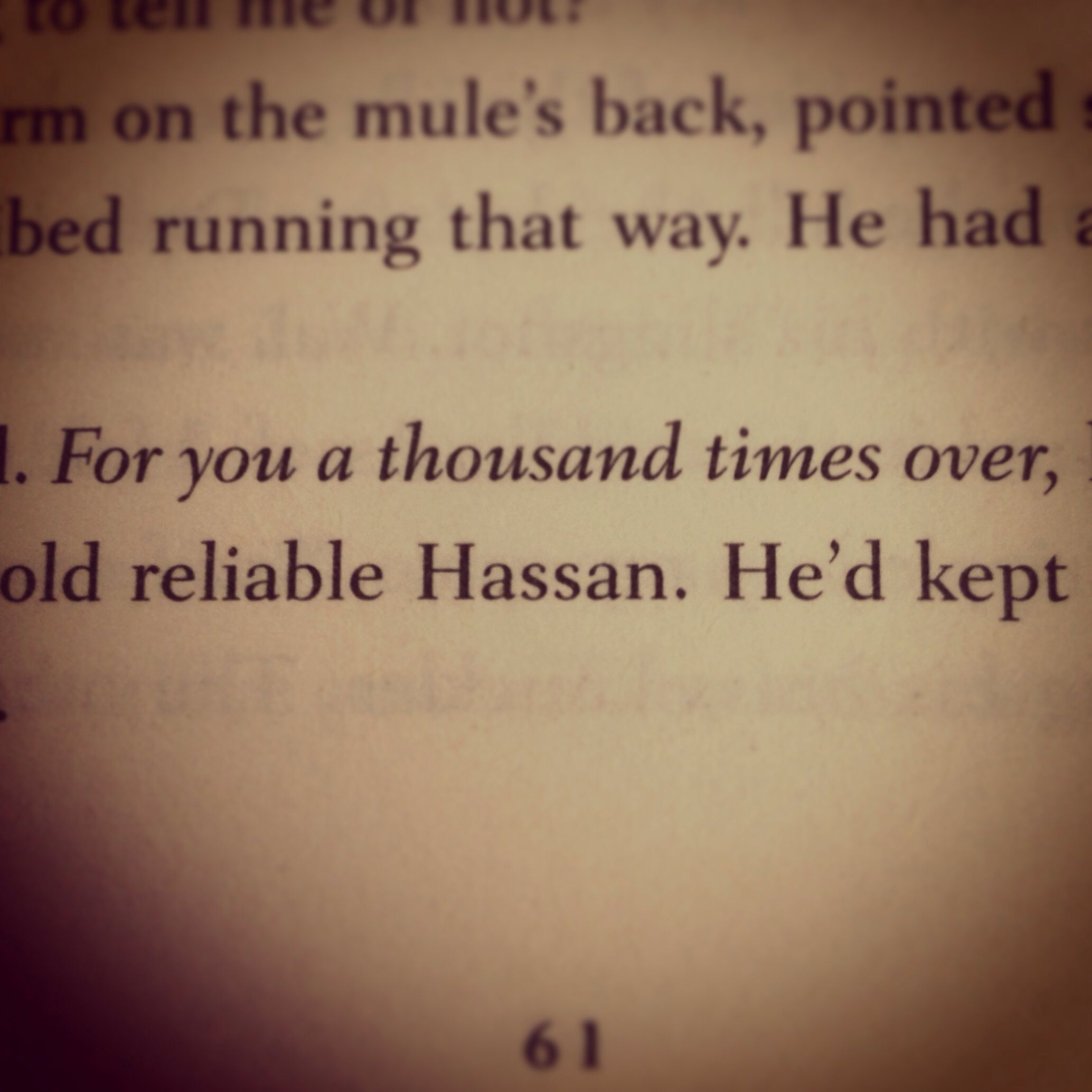 The Kite Runner By Khaled Hosseini For You A Thousand Times Over
