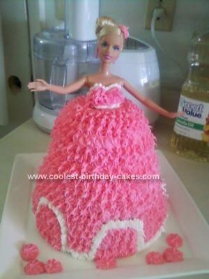 Coolest Barbie Doll Princess Cake Barbie Doll Princess And Homemade - Birthday cake doll princess