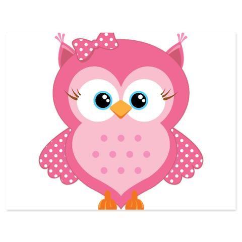 Pink Baby Owl Sweet Cartoon 5 X Buhos De Historieta Buhos