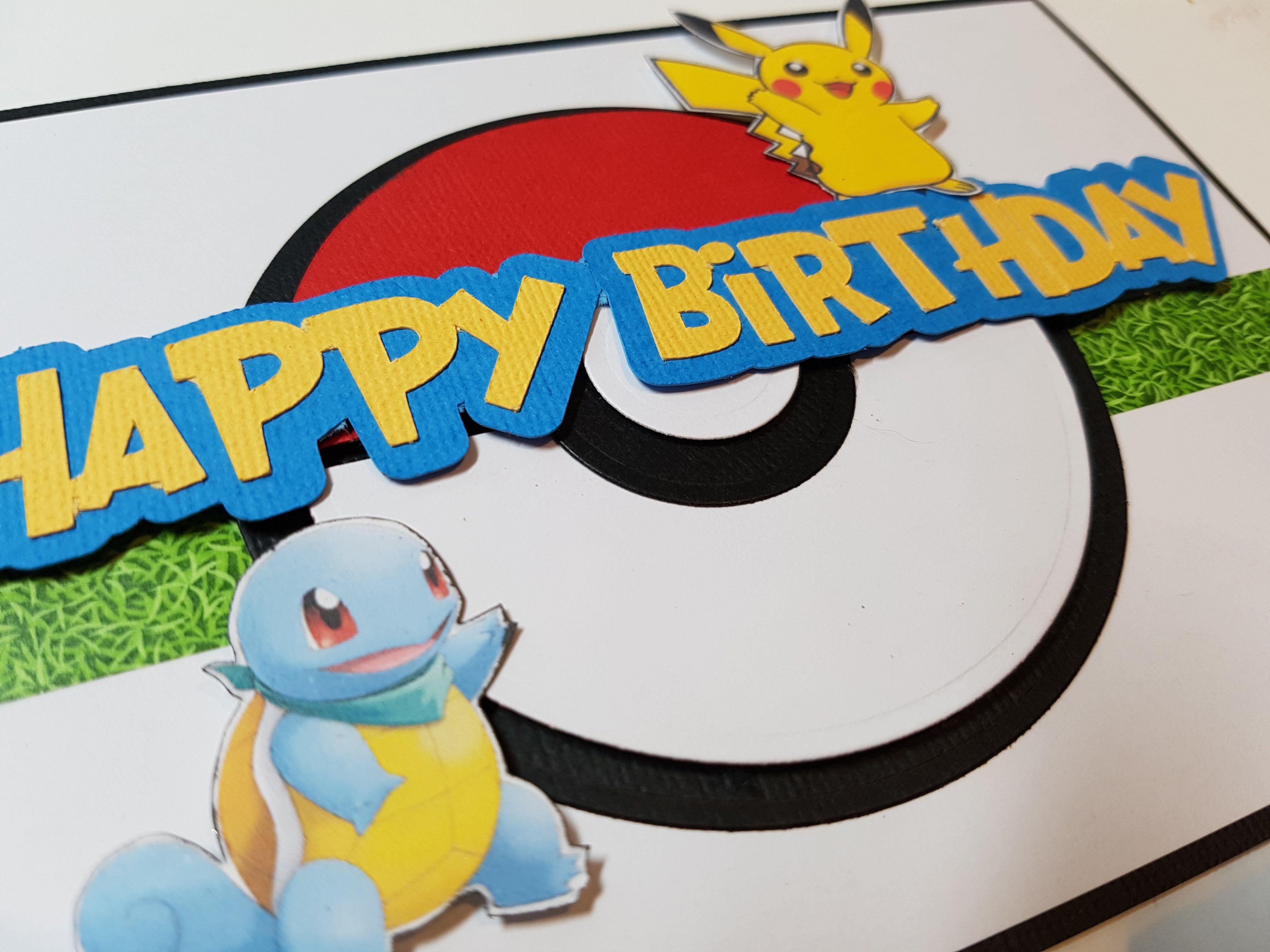 Pikachu Birthday Card Pokemon Birthday Card Pokemon Birthday Punny Birthday Cards