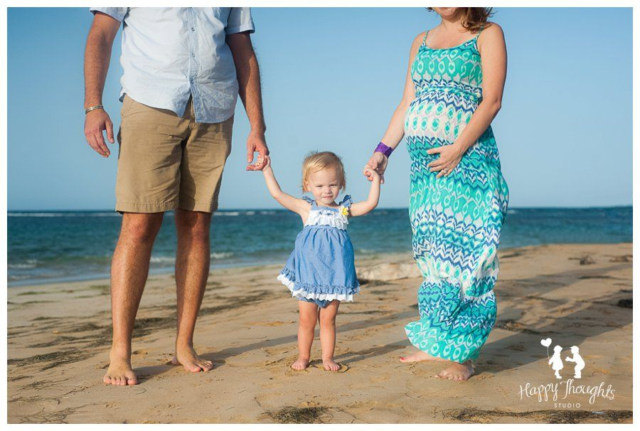 Lifestyle Beach theme Family and Maternity session from  Happy Thoughts Studio