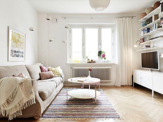 Calidez en los neutros \u2013 decoración atemporal Apartments, Living