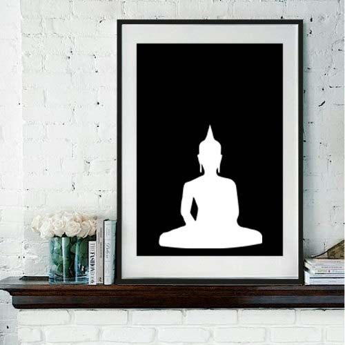 Items op etsy die op yoga print seated buddha printblack and white prints buddha prints buddha art posterblack white yoga art printbuddha yoga studio