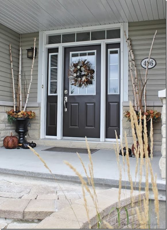 Fall Home Tour And Decor Ideas Brown Front Doors