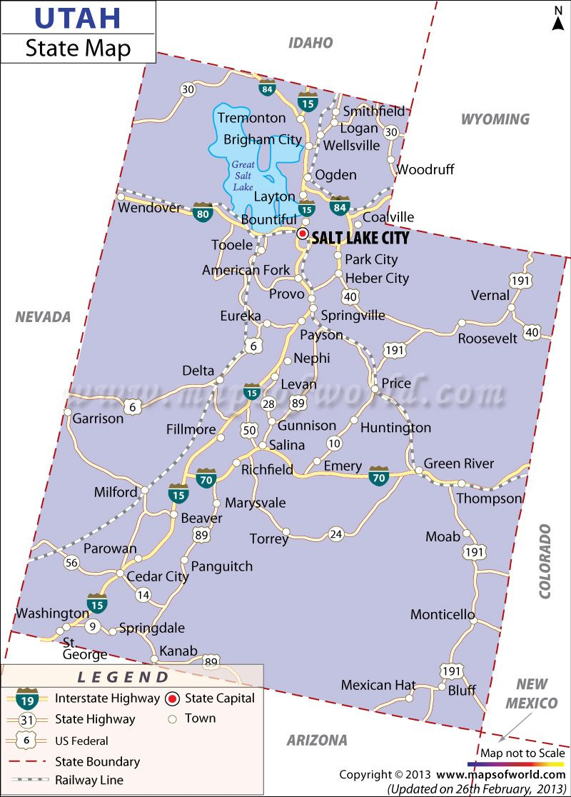 Colorado City Utah Map.Wendover To Home 4 19 94 We Traveled A Total Of 2801 Miles In 9