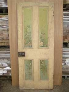 love the painted door