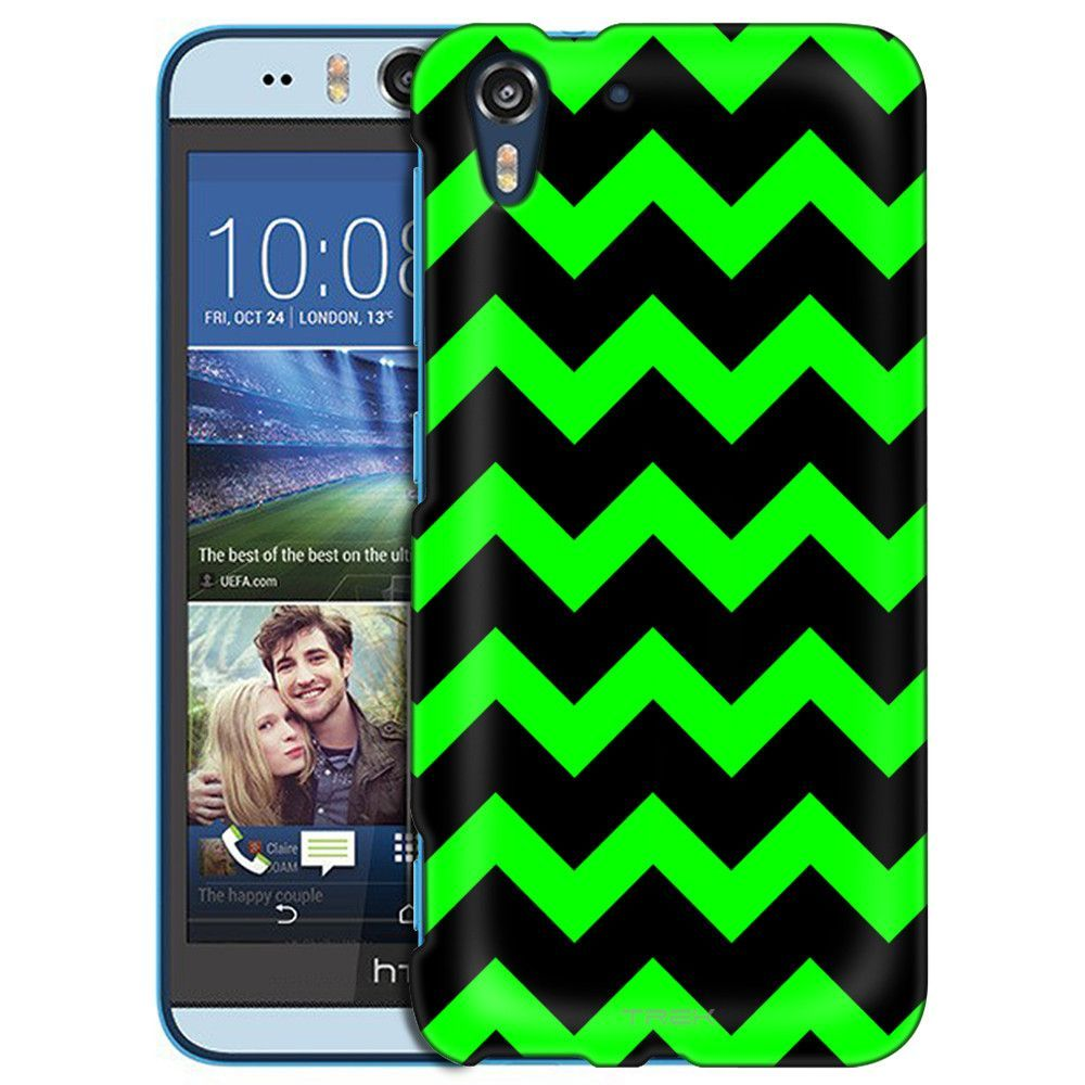 HTC Desire EYE Chevron Green Black Slim Case