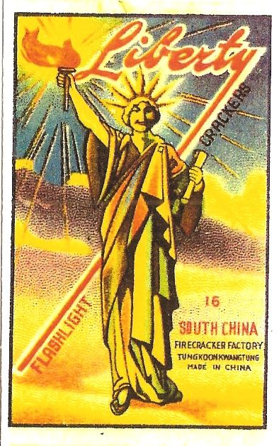 vintage firecracker labels | LIBERTY Logo Pack 16s, PYRO COLLECTABLES & MEMORABILIA