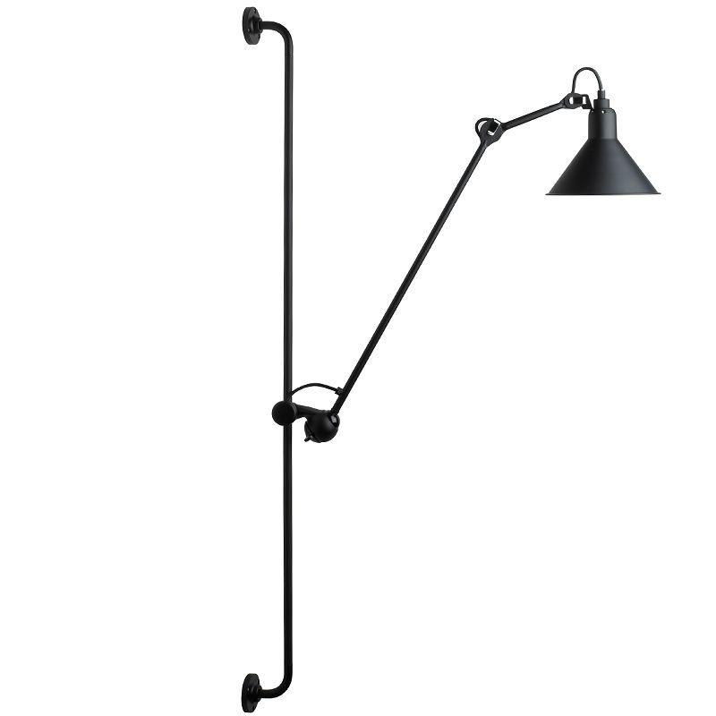 gelenkarm wandleuchte n 214 mit wandschiene die an einer 120 cm schiene h henverstellbare. Black Bedroom Furniture Sets. Home Design Ideas