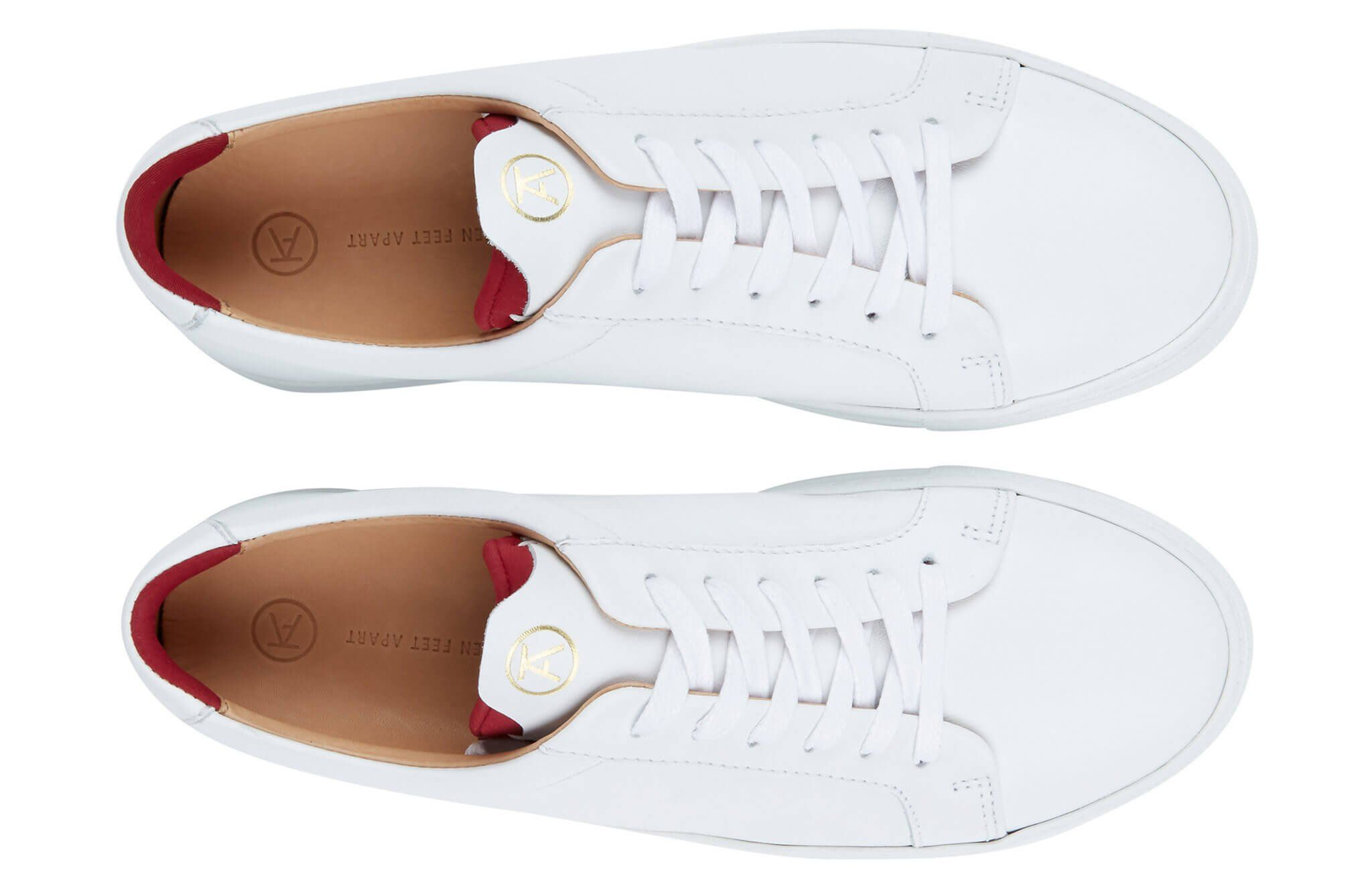 c225b5e2272 The Original 172 - White calf leather sneaker with signature red neoprene  comfort bridge system