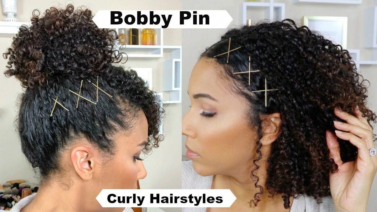 Spice up curly hairstyles with bobby pins youtube
