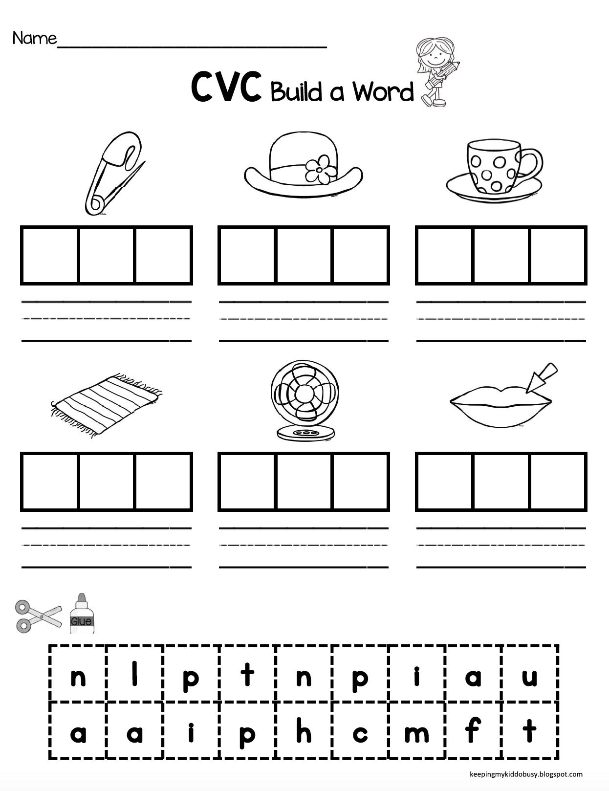 Worksheets For 1st Grade Cvc