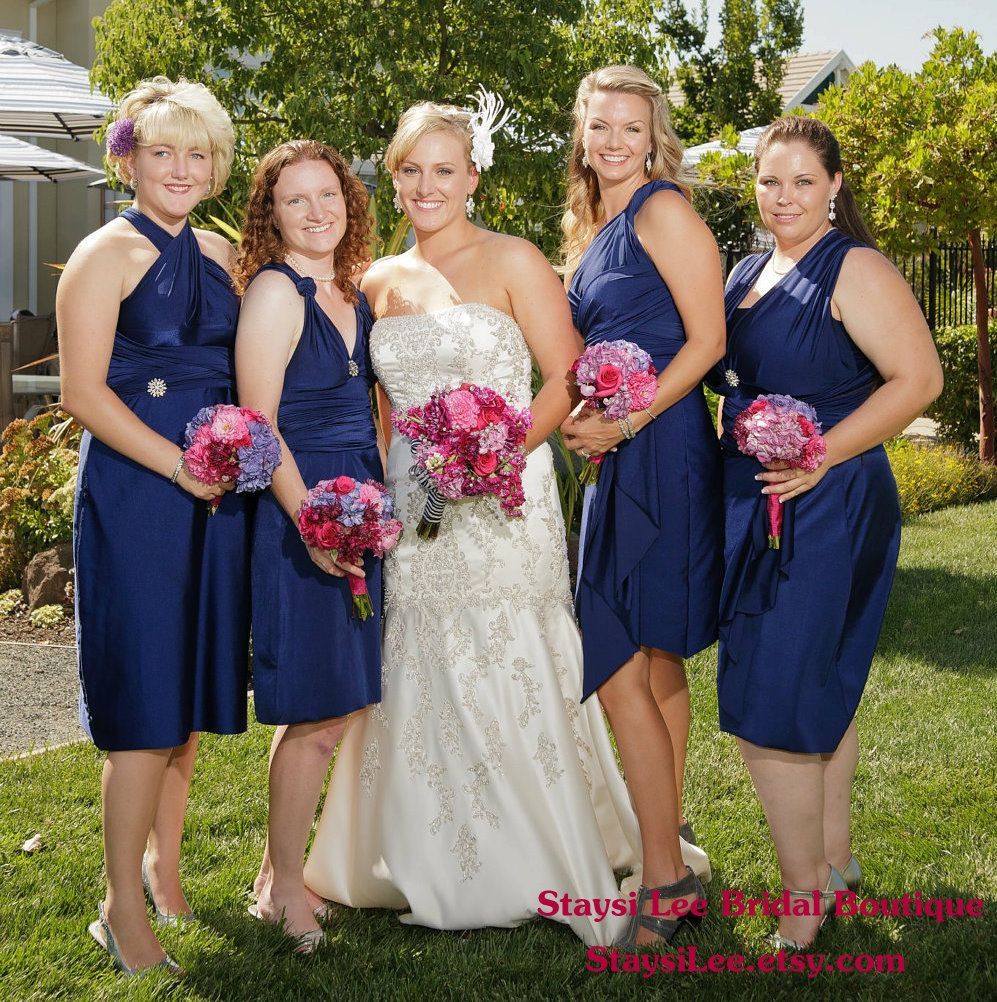 Navy Dresses With Purple And Pink Flowersis Specific Color