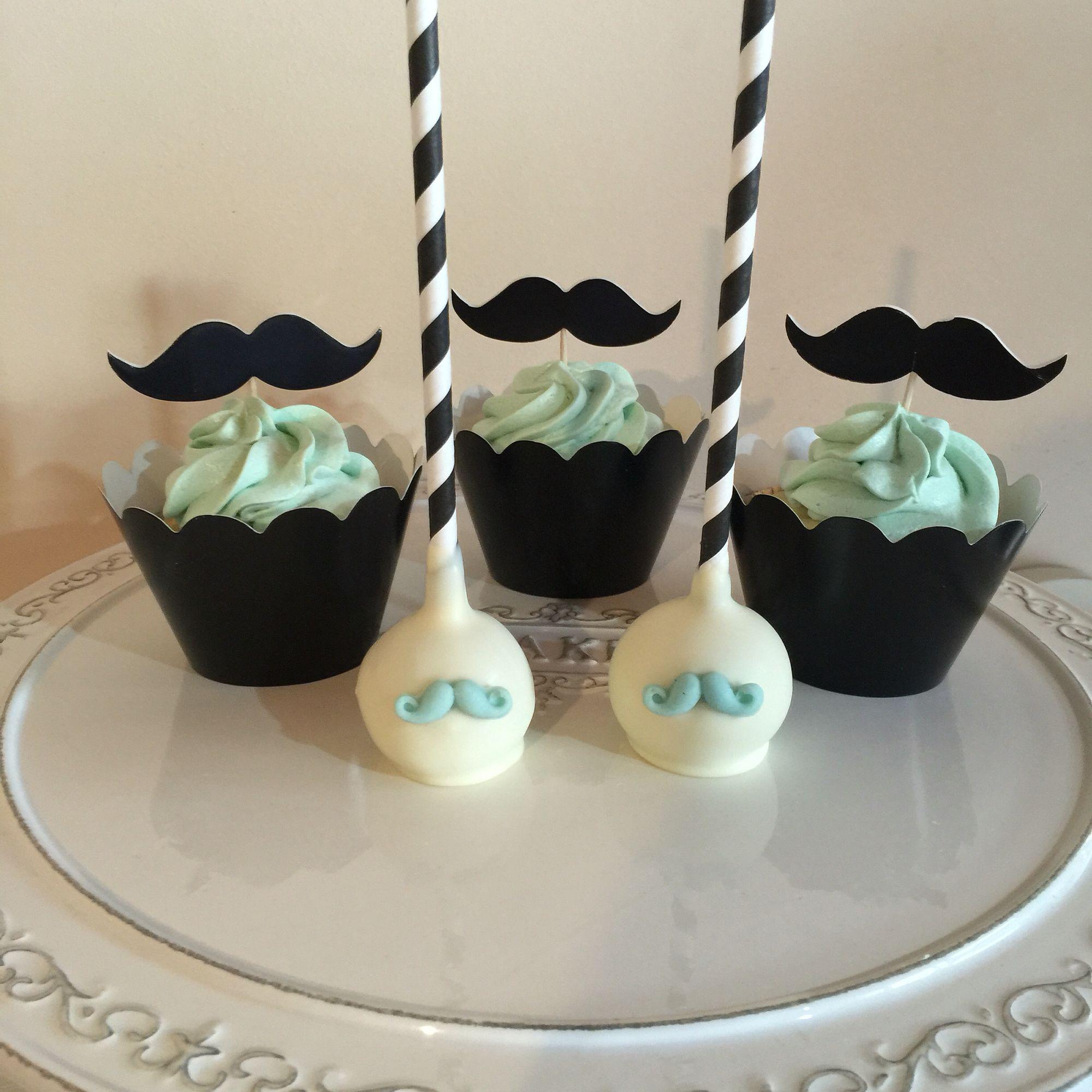 Moustache cake pops cupcakes cakes pops Pinterest Moustache