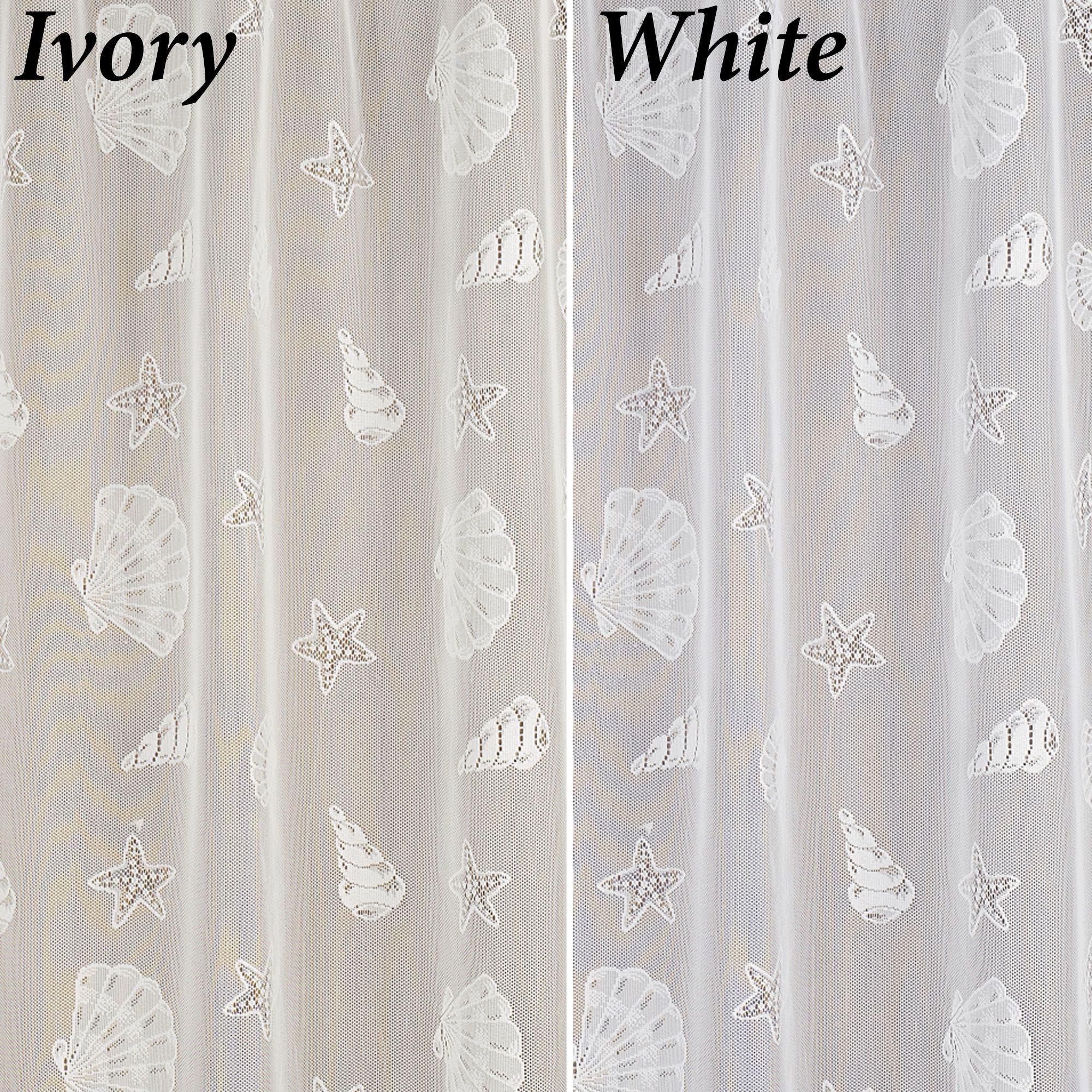 Seashells Lace Shower Curtain Lace Shower Curtains Vinyl Shower