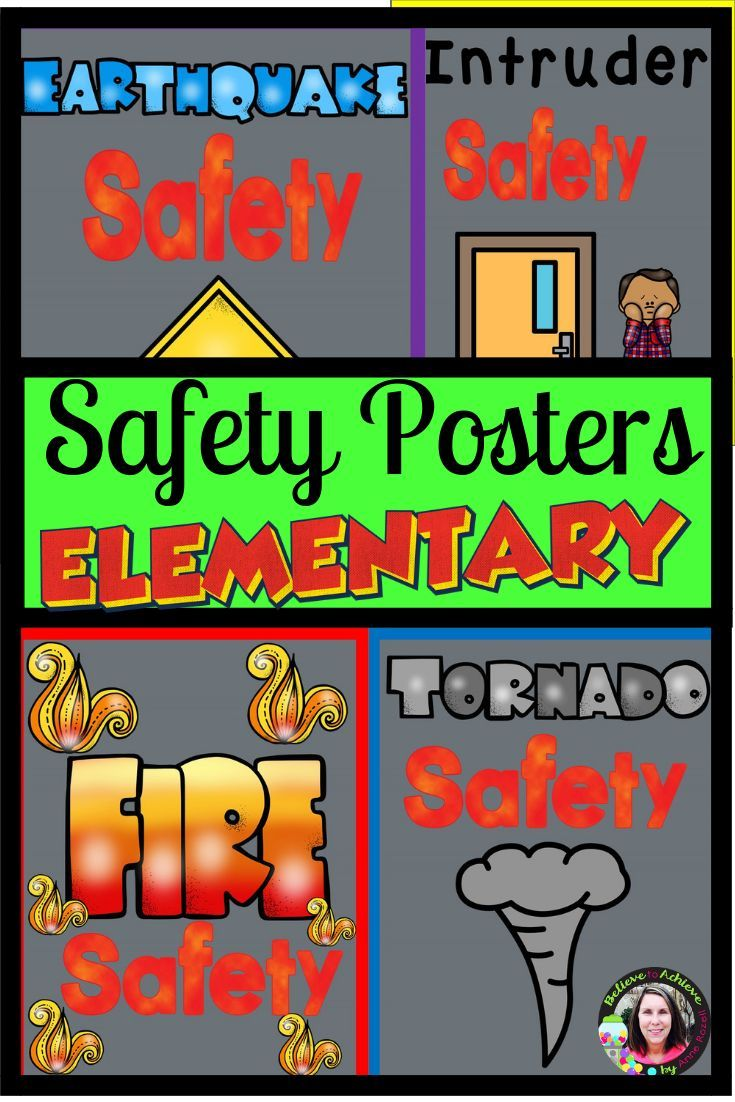 Safety PostersFire, Tornado, Earthquake, and Intruder