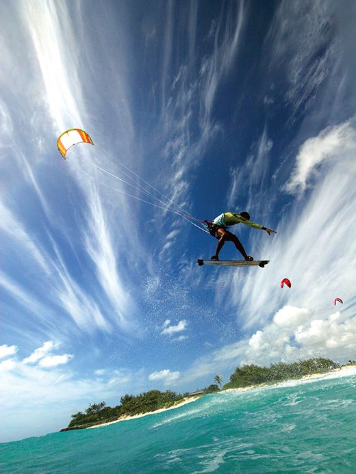 Palm Island, The Grenadines A private island resort in the Grenadines, Palm Island recently added the thrill of kitesurfing and the excitem...