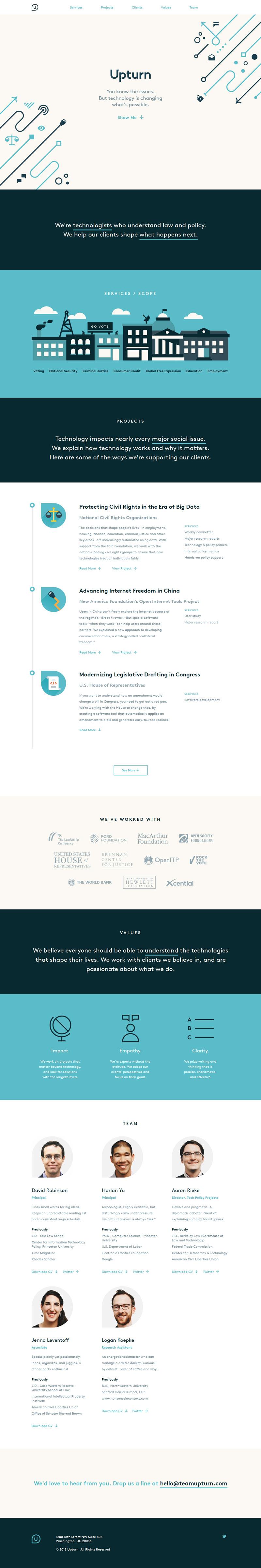 Upturn - Flat Design Website