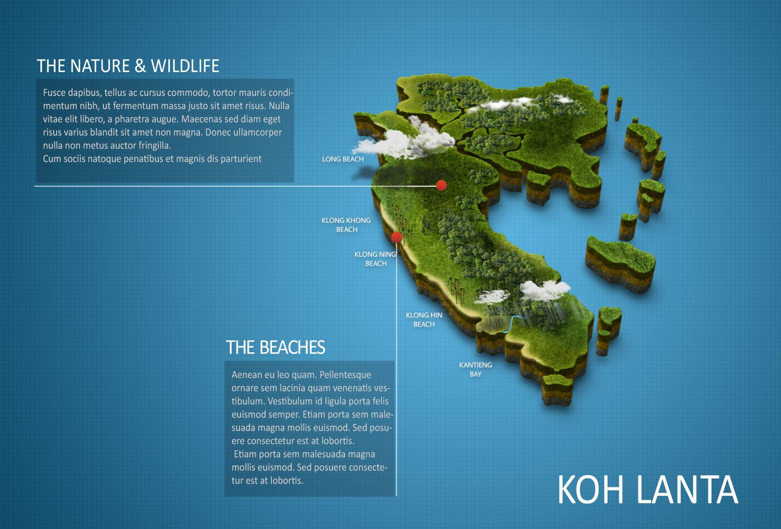 Free 3D Map Of Koh Lanta Zooadventurer Photoshop Ilustrator