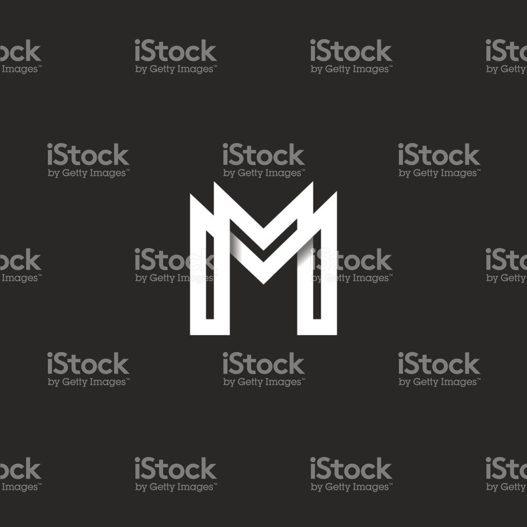 0dd7285bd Monograma de logotipo de letra M
