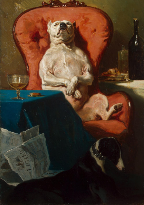 arinewman7:  The Dog in the ChairAlfred de Dreux1857