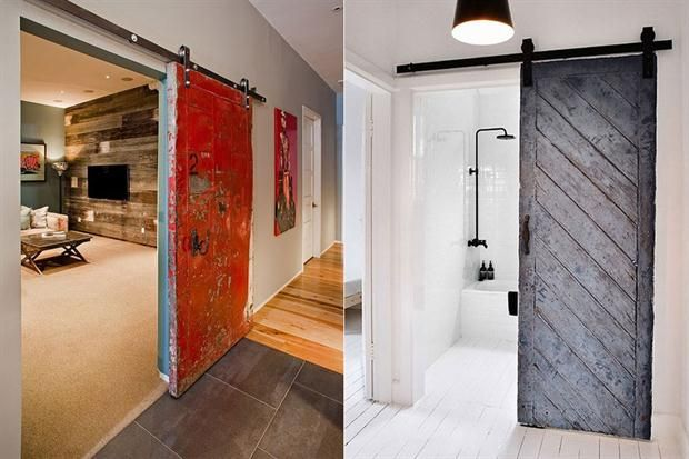 8 recursos para lograr el estilo industrial puerta - Puerta corredera industrial ...