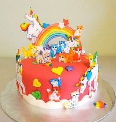 Remarkable Lisa Frank Birthday Cake Lisa Frank Cake Crazy Cakes Cat Cake Cake Funny Birthday Cards Online Alyptdamsfinfo