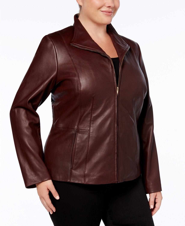 Cole Haan Plus Size Leather Jacket & Reviews Coats