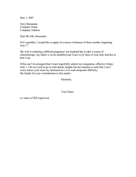 This Printable Letter Serves As An Ultimatum Between A ThreeMonth