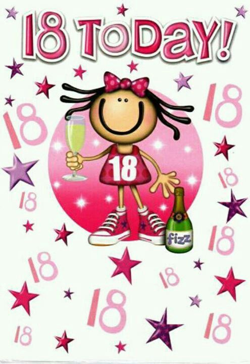 HAPPY 18TH EIGHTEENTH CONGRATULATIONS GIRL BIRTHDAY CARD 2 styles