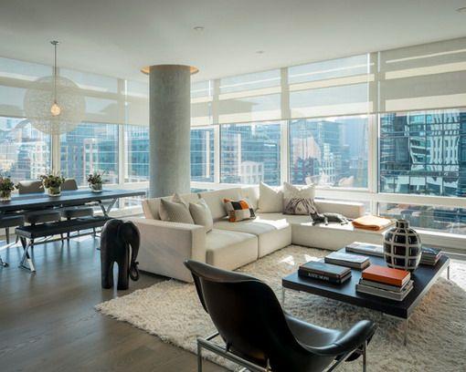 Modern High Rise Apartment Condo Living Room Modern Apartment