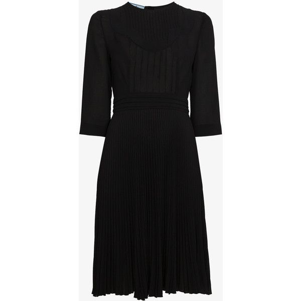 pleated skater dress - Black Prada zGKTLKSRj