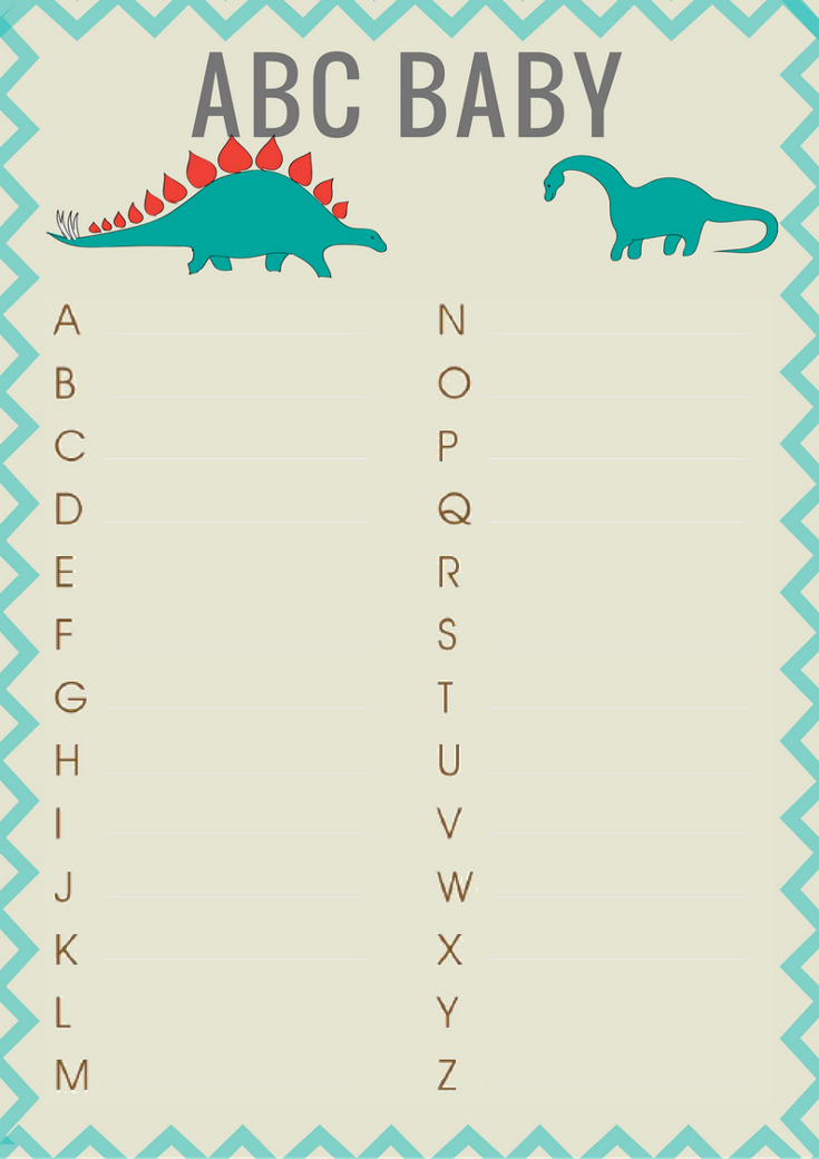 Dinosaur Baby Shower Printable Games Printable Baby Shower Games