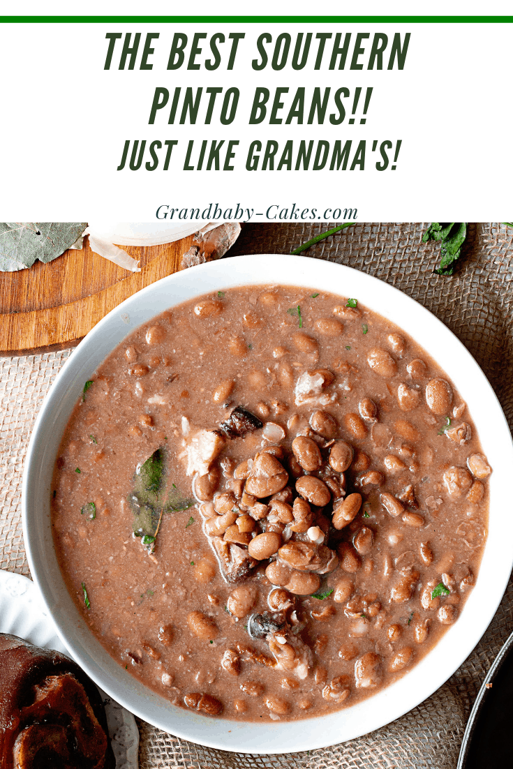 Photo of This Pinto Beans Recipe with Ham Hocks is a true Southern Comfort Food delicacy!…