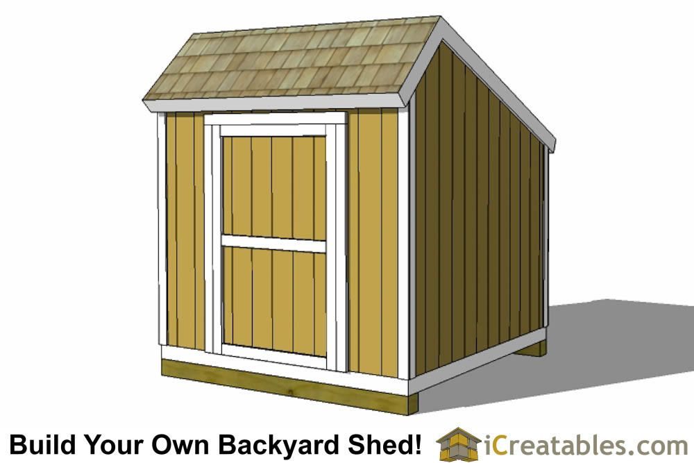 8x8 Salt Box Shed Plans With Images Shed Plans Build Your Own Shed Shed
