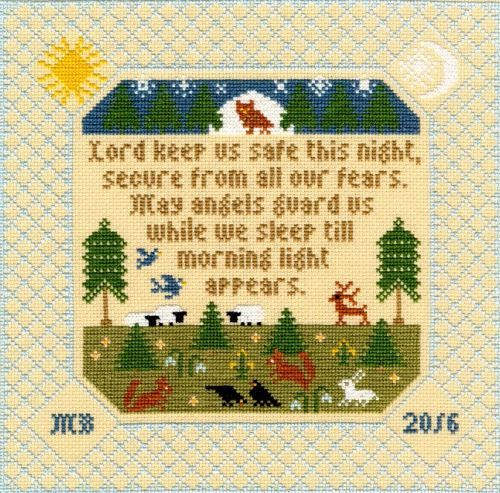 BOTHY THREADS TIME AND TIDE BIRTH SAMPLER DESIGN COUNTED CROSS STITCH KIT XBD5