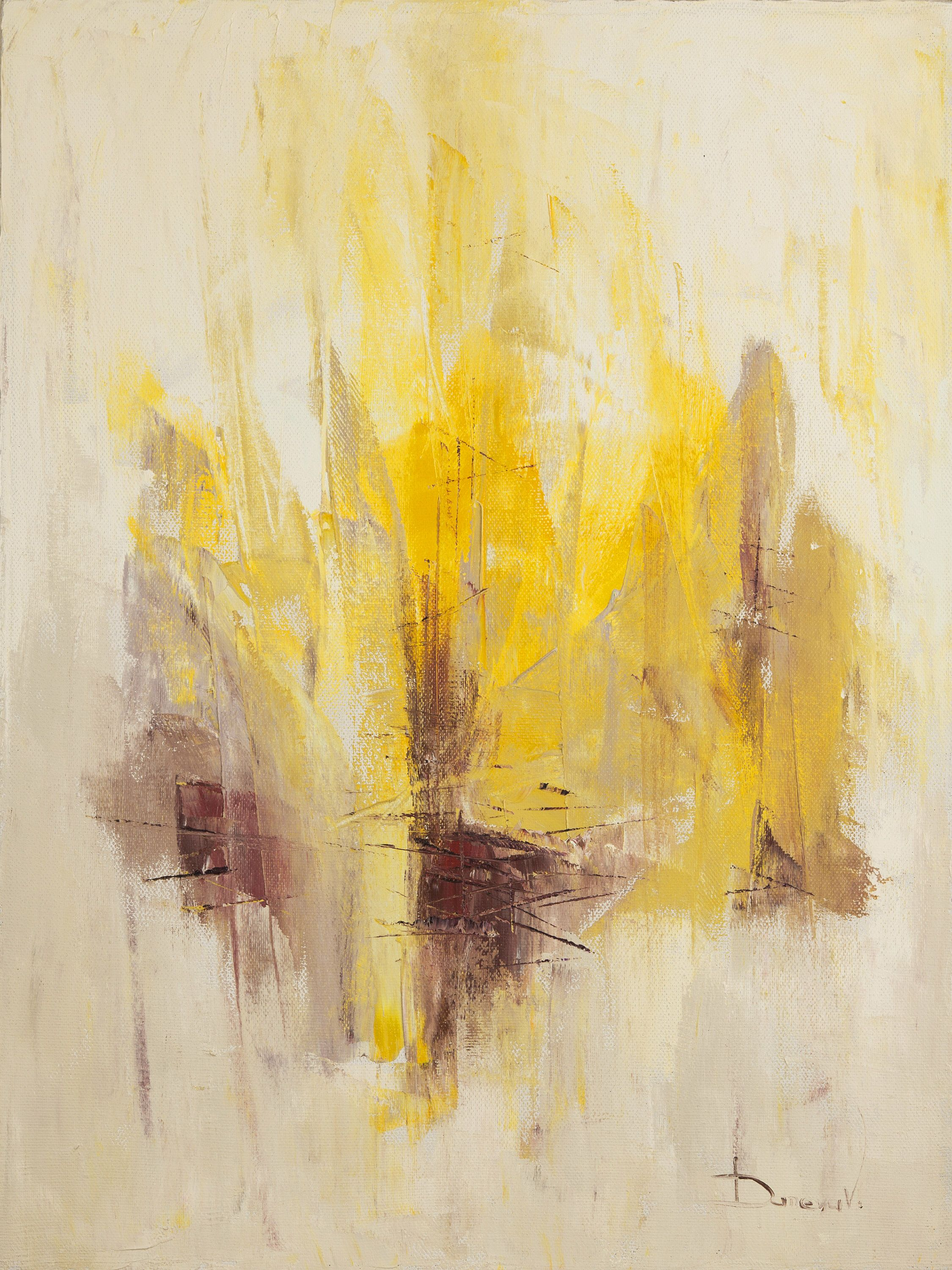 Contemporary art Abstract print Yellow art Digital print Download ...