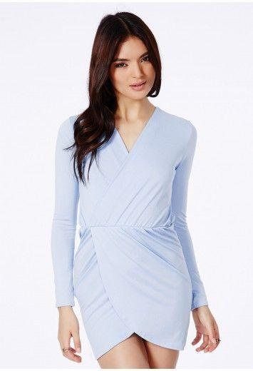 Zajeta Crepe Wrap Dress Dresses Wrap Dresses Missguided Dresses Dresses Uk Womens Dresses