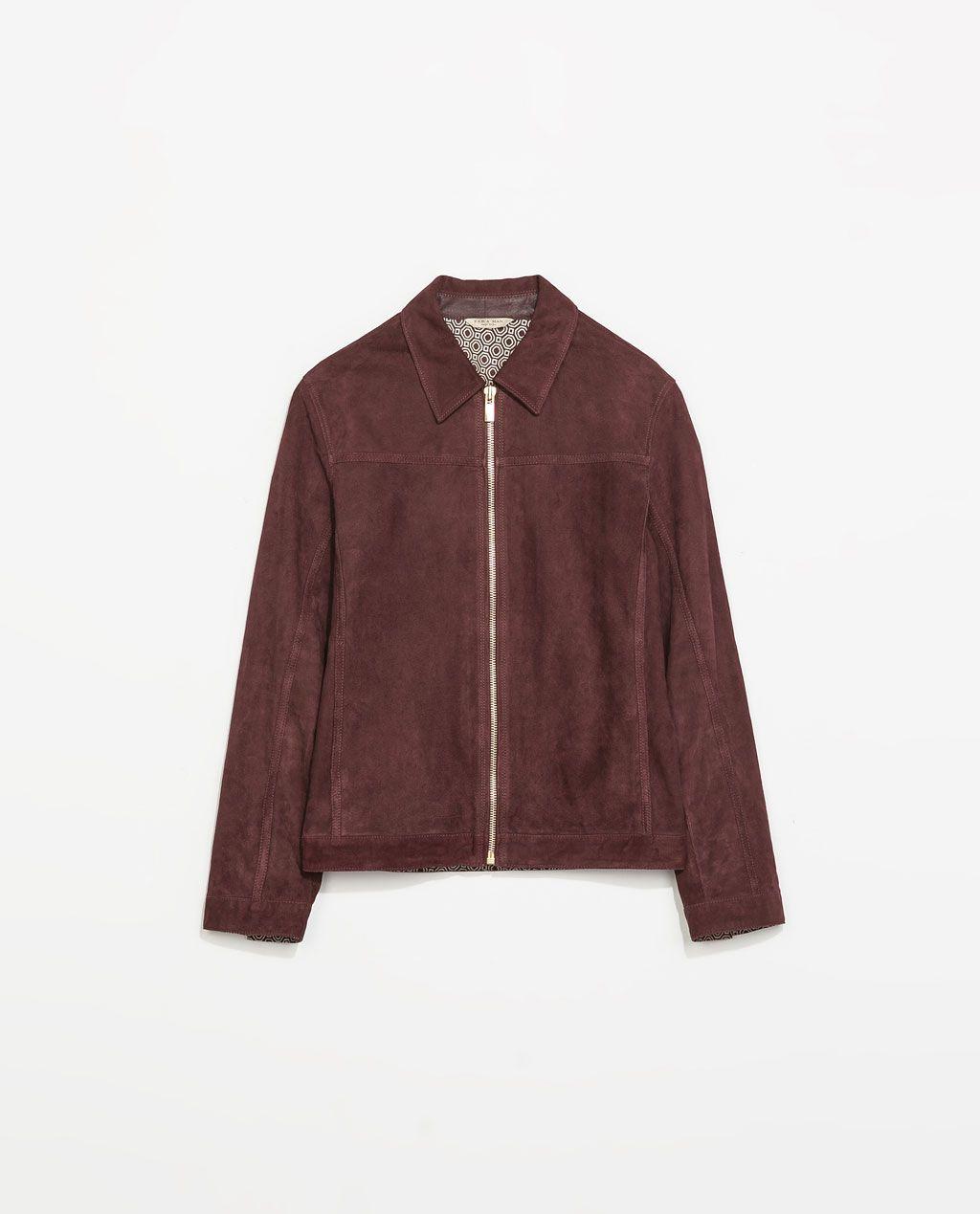Zara New This Week Suede Jacket Zara Man Jacket Jackets Suede Jacket