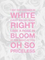 I See You Dressed In White : dressed, white, Dressed, White,, Every, Wrong, Right,, Bloom,, Sight, SO…, Christian, Lyrics,, Country