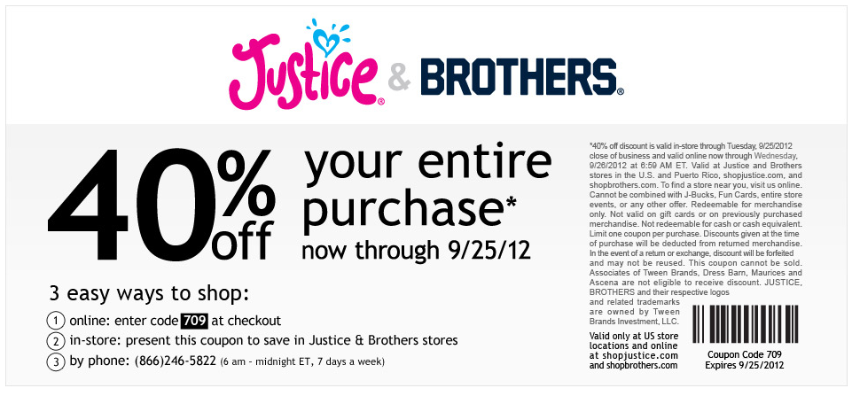 Recently Expired Justice Coupons